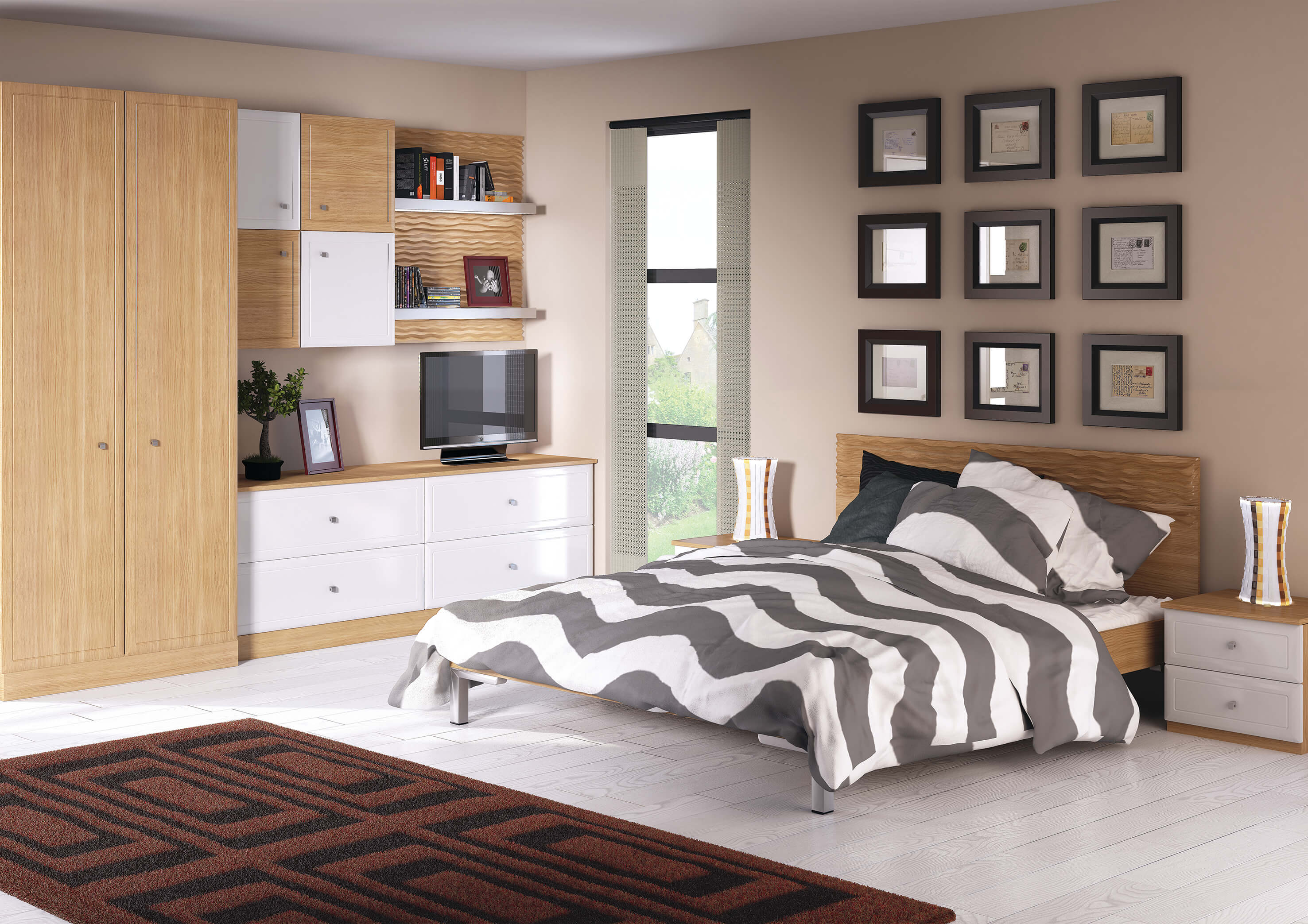 Bella Euroline Natural Oak & Satin White